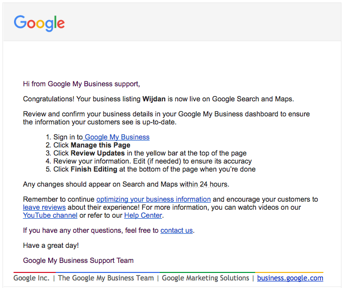 Google Business Listing - Google My Business Help