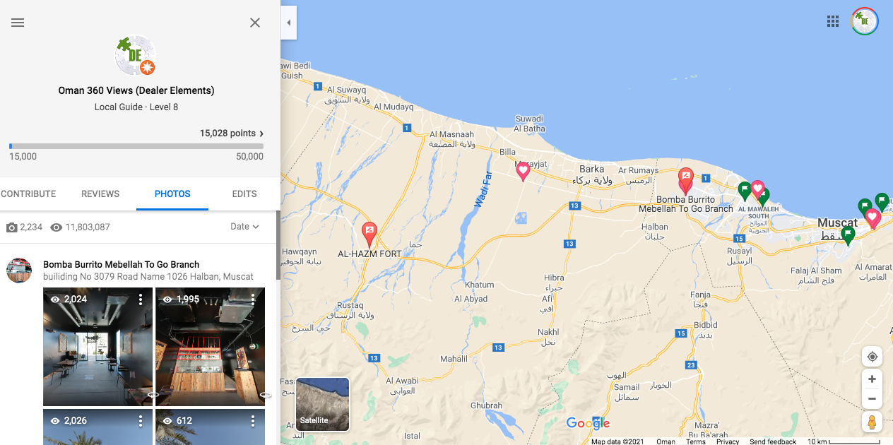 Google Local Guide Impact on Map